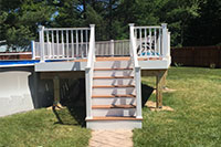 Above Ground Pool Deck - Saratoga County, NY